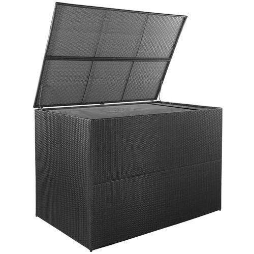 Vrtna kutija za pohranu od poliratana crna 150 x 100 x 100 cm slika 2