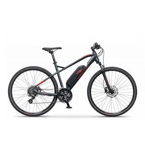 Cijenovno atraktivan električni bicikl Apache Cross Matto E6 s novim aluminijskim okvirom, udobna sportska geometrija i snažan električni Bafang motor u središtu stražnjeg kotača. Proširena donja okvirna cijev pruža više prostora za bateriju i još elegantniju integraciju u cjelokupnom dizajnu bicikla. Detaljno osmišljena prednja vilica sa suspenzijom, stabilnim 28-inčnim kotačima i moderna baterija sa visokim kapacitetom osigurava udobnu i dugu vožnju. Apache Matto E6 uvijek će biti pouzdan partner.