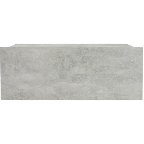 Viseći noćni ormarići 2 kom boja betona 40x30x15 cm od iverice slika 4