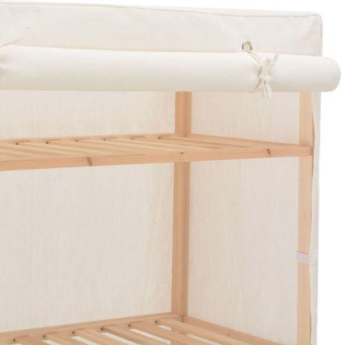 Ormar od tkanine bijeli 79 x 40 x 170 cm  slika 5