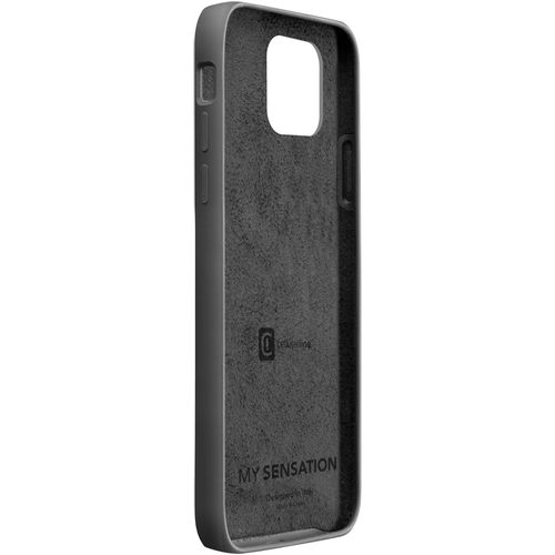 Cellularline Sensation silikonska maskica za iPhone 12 Mini crna slika 2