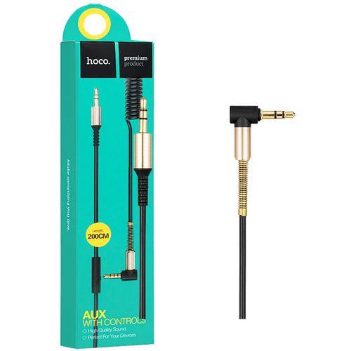 hoco. Audio kabel 3.5 mm sa mikrofonom, dužina 2.0 metra - UPA02 Spring Audio AUX MIC slika 1