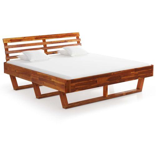 Okvir za krevet od masivnog bagremovog drva 160 x 200 cm slika 2
