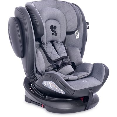 LORELLI AVIATOR je autosjedalica koja raste s Vašim djetetom i njegovim potrebama. Jedna autosjedalica od rođenja do 12. godine.      - Mogućnost okretanja 360° za lakše postavljanje ili izvlačenje djeteta  - SPS Sustav bočne zaštite  - Isofix  - Sjedalo u suprotnom smjeru  - 11 pozicija naslona za glavu  - 11 pozicija namještanja pojaseva  - 11 razina namještanja pojaseva  - 4 pozicije naslona za leđa  - Navlaka na skidanje   - Europski standard ECE R44/04