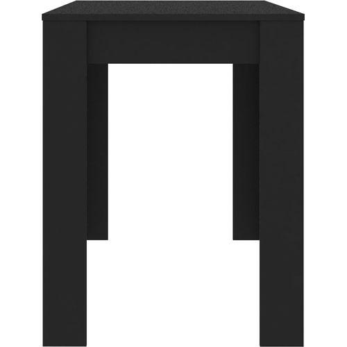 Blagovaonski stol crni 120 x 60 x 76 cm od iverice slika 11