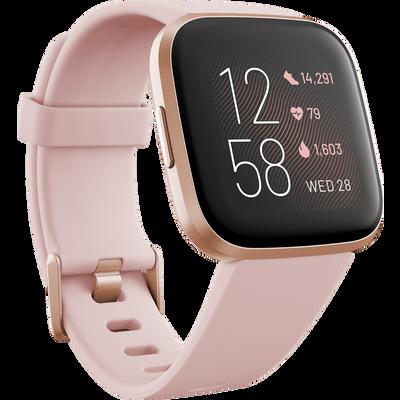 Versa 2 Peach - pametni sat za praćenje cjelodnevnih aktivnosti.    Glasovno odgovaranje na poruke (samo za Android)    Rezultati sna    24/7 praćenje otkucaja srca    Aplikacije i obavijesti1    Glazba2    Uvijek uključen zaslon - način rada3    5+ dana trajanje baterije4    Fitbit Pay5