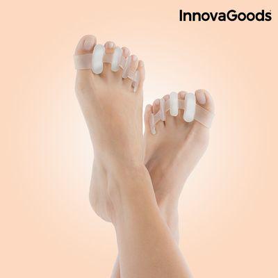 <p>Želite li otkloniti bol u stopalima i ispraviti nožne prste? Predstavljamo vam ove praktične<strong>Opuštajuće Separatore za Nožne Prste InnovaGoods<strong>Wellness Care</strong>(2 kom.)</strong>! Savršeno se prilagođavaju obliku stopala i vrlo u...