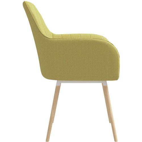 Blagovaonske stolice s naslonima za ruke 2 kom zelene tkanina slika 4