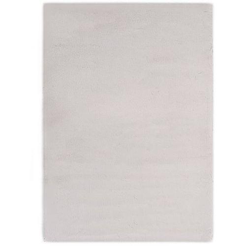 Tepih od umjetnog zečjeg krzna 160 x 230 cm sivi slika 1
