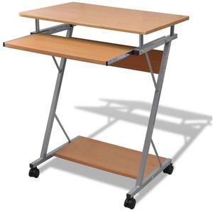 Ovaj kompaktan računalni stol je osmišljen za uštednje prostora, a sigurno će privlačiti poglede u vašem uredu zahvaljujući modernom dizajnu. Velika radna površina omogućuje udobno korištenje računala i korištenje pribora za pisanje. Ovaj...