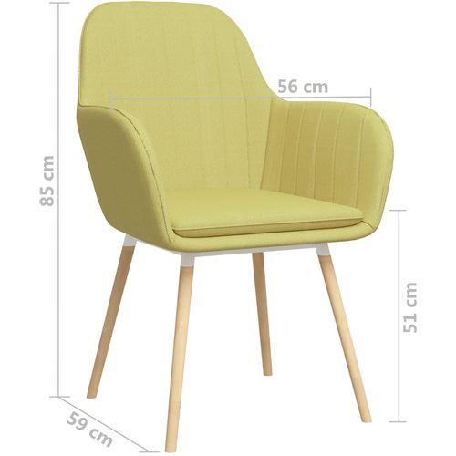 Blagovaonske stolice s naslonima za ruke 2 kom zelene tkanina slika 7