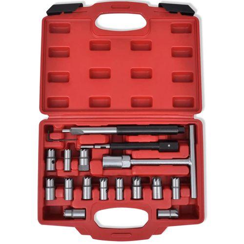 17-dijelni set alata za rezanje kućišta injektora, za diesel vozila slika 23