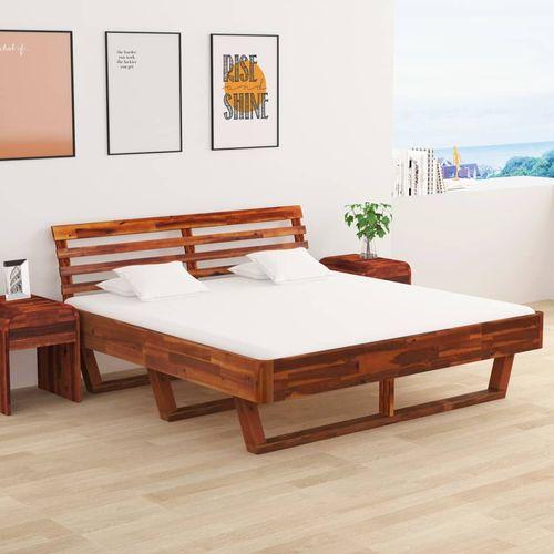 Okvir za krevet od masivnog bagremovog drva 160 x 200 cm slika 1