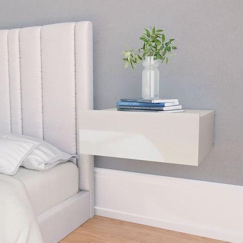 Viseći noćni ormarić visoki sjaj bijeli 40x30x15 cm od iverice slika 26