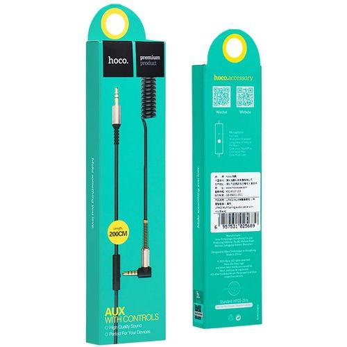 hoco. Audio kabel 3.5 mm sa mikrofonom, dužina 2.0 metra - UPA02 Spring Audio AUX MIC slika 3