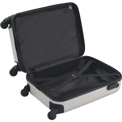 Čvrsti kovčeg s kotačima žarko srebrni ABS slika 12