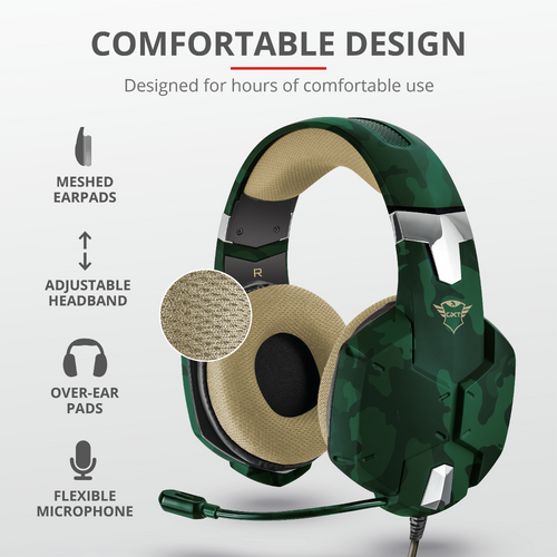 Trust gaming slušalice za PS4/PS5 GXT322 Carus maskirno zelene (20865) slika 3