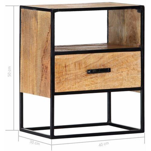 Noćni ormarić od masivnog drva manga 40 x 30 x 50 cm slika 15