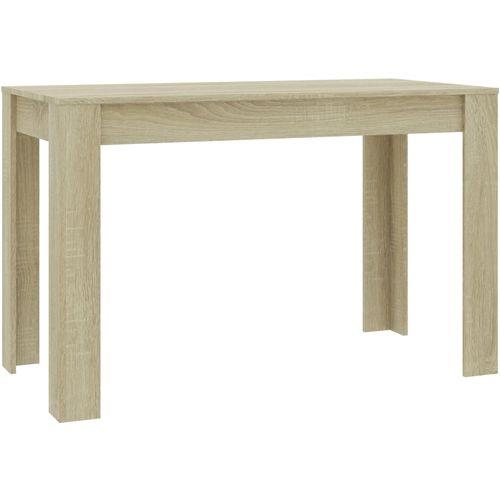 Blagovaonski stol boja hrasta sonome 120 x 60 x 76 cm iverica slika 2