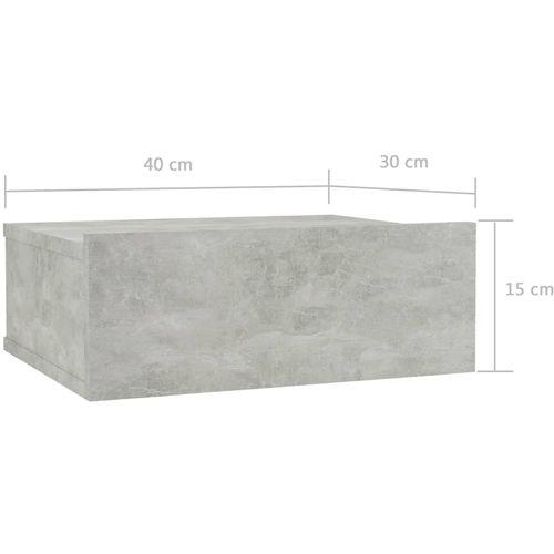 Viseći noćni ormarići 2 kom boja betona 40x30x15 cm od iverice slika 9