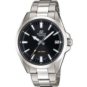 Ručni sat CASIO EFV-100D-1AVUEF je napravljen od nehrđajućeg čelika što jamči udobnost, dugotrajnost i elegantan izgled. Mineralno staklo štiti sat od ogrebotina. Vodootporan je do 100 metara. Sat je analogni, a na zaslonu je prikazan i datum. Neo-zaslon omogućuje dobru vidljivost čak i u uvjetima lošeg osvjetljenja.