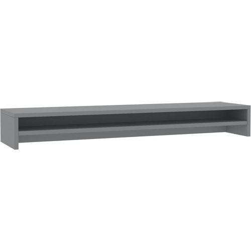Stalak za monitor sivi 100 x 24 x 13 cm od iverice slika 2