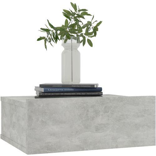 Viseći noćni ormarić siva boja betona 40x30x15 cm od iverice slika 3
