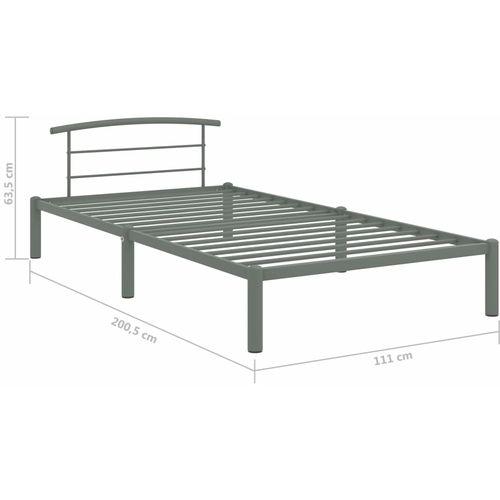 Okvir za krevet sivi metalni 100 x 200 cm slika 7