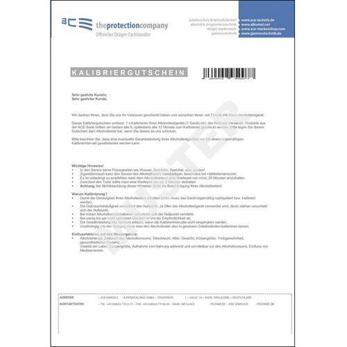 Bon za kalibraciju ACE 100082za alkotestere ACE slika 1