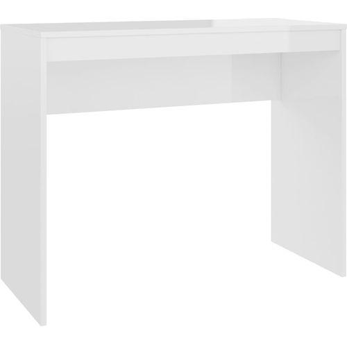Radni stol visoki sjaj bijeli 90 x 40 x 72 cm od iverice slika 15
