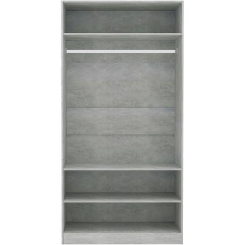 Ormar siva boja betona 100 x 50 x 200 cm od iverice slika 5