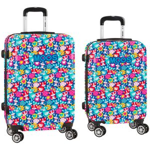 Size: 40x63x26cm. Set composed by a 20 inches cabin trolley + a 24 inches medium trolley