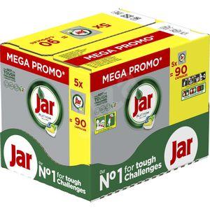 Tablete za strojno pranje posuđa Jar Platinum All in One čiste već iz 1. pokušaja.  Njihova formula uspješno savladava i najzahtjevnije izazove čišćenja kako bi vaše posuđe bilo blistavo čisto.