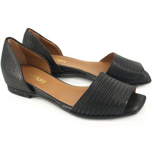 Ženske kožne cipele u crnoj boji - poluotvorene  slika 1