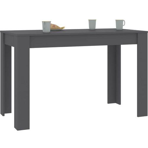 Blagovaonski stol sivi 120 x 60 x 76 cm od iverice slika 9
