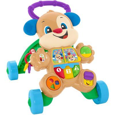 Krenimo u šetnju! Psić je savršen prijatelja vašeg djeteta. Nudi mnoštvo aktivnosti za bebu dok sjedi kao i mnoštvo ohrabrujućih fraza i podrške za napravljen prve korake. Kako dijete raste, Psić će ga upoznati i s abecedom, oblicima, bojama, brojanjem pa čak i s engleskim jezikom.