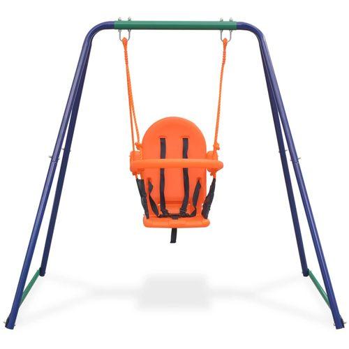 2-u-1 obična ljuljačka i ljuljačka za malu djecu narančasta slika 15