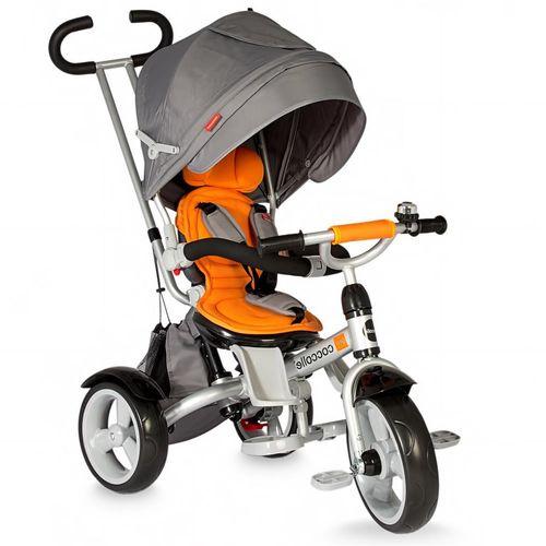 Dječji tricikl Giro sivo - narančasti slika 1