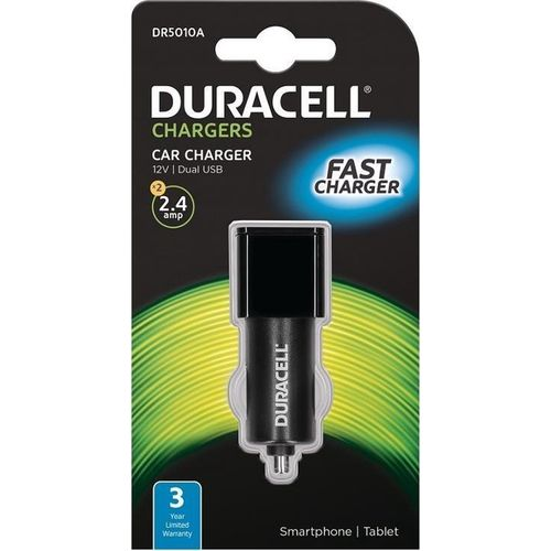 Duracell Autopunjač – Uni 2xUSB - 2.4A+2.4A – Black slika 1