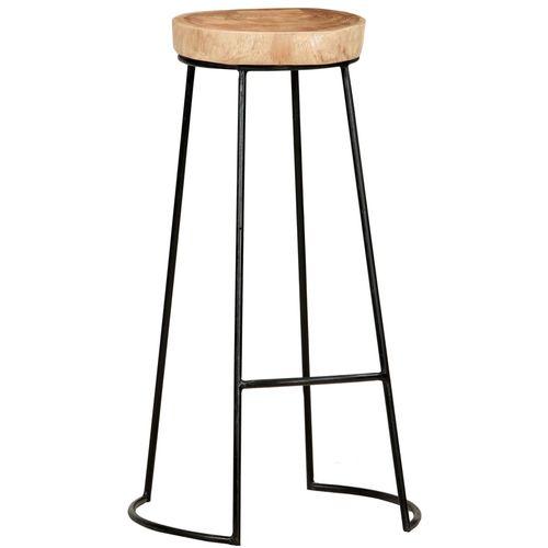 Barski stolci 2 kom od masivnog bagremovog drva slika 9