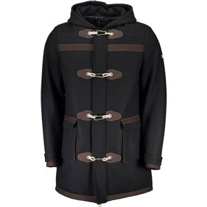 Coat long sleeves, buttons to hook and ZIP, 2 side pockets, 2 external pockets, CAP, logo
