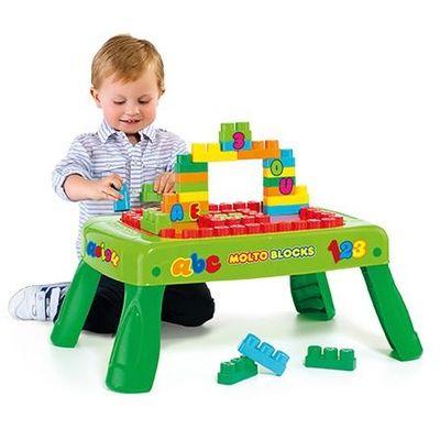 Molto preklopni stol  sa 20 Molto kockica za izgradnju stvari i razvijanje mašte.