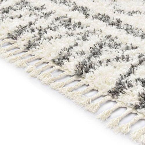 Čupavi berberski tepih PP bež i sivi 160 x 230 cm slika 3