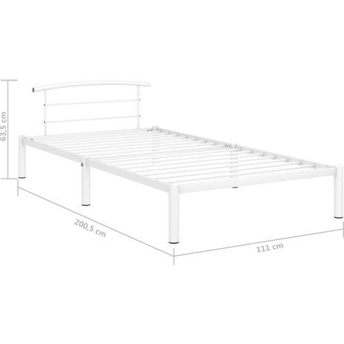 Okvir za krevet bijeli metalni 100 x 200 cm slika 7