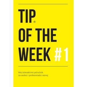 TIP OF THE WEEK #1 predstavlja zbirku 40 praktičnih savjeta, primjenjivih na brojne životne i poslovne izazove upakirana u moderni žuti dizajn. Ova knjiga posvećena je njezinu veličanstvu – PROMJENI, jer su jedino promjene konstantne i sigurne te bi kao takve trebale postati dijelom naših navika.