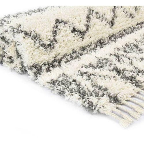 Čupavi berberski tepih PP bež i sivi 160 x 230 cm slika 8