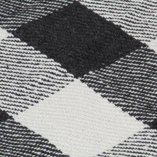 Pamučni pokrivač karirani 160 x 210 cm antracit slika 3