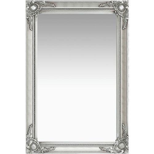 Zidno ogledalo u baroknom stilu 60 x 40 cm srebrno slika 3
