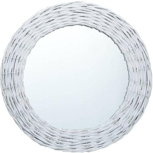 Ogledalo od pruća 80 cm bijelo slika 1