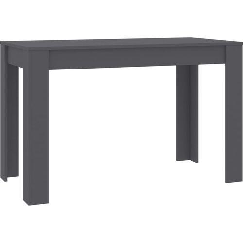 Blagovaonski stol sivi 120 x 60 x 76 cm od iverice slika 8